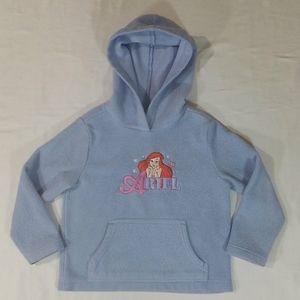 Disney Store Blue Ariel Fleece Pullover Hoodie XS